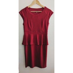 Spense beautiful red peplum dress
